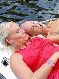 Two hot babes and thier guys have sex on boat then peeing pictures at find-best-hardcore.com