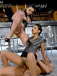 Two smoking hot babes fucking and pissing with lucky guy pictures at dailyadult.info