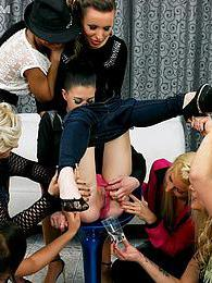 Sexy young vibrant girls having a kinky pissing sex party pictures at freekiloclips.com