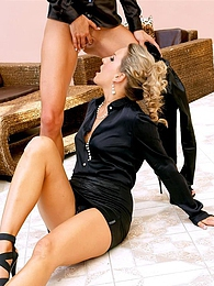 Sultry hot well dressed lesbians kiss and touch and piss pictures at lingerie-mania.com
