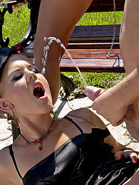 A very horny fetish guy pissing in open mouths hardcore pictures at sgirls.net