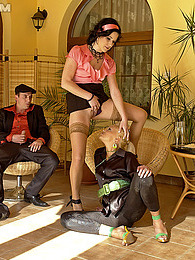 A dude loves pissing on two horny teenage chicks indoors pictures at dailyadult.info