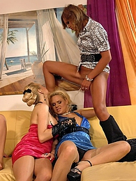 Four crazy chicks pissing on a horny willing guy hardcore pictures at freekilosex.com