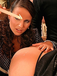 Kinky MMFF 4 way fetish sucking and fucking with candle wax pictures at adspics.com