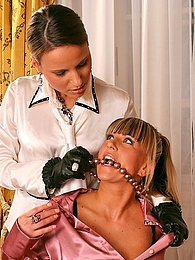 Kinky lesbian fetish boot licking and fucking threesome pictures at kilogirls.com