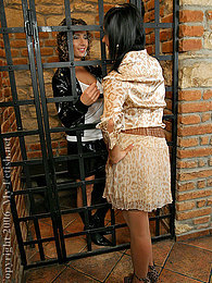 Jail cell lesbians pussy licking and strap on fucking fun pictures at very-sexy.com