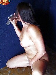 Cougar Victoria interracial gloryhole cumeating blowjob pictures at dailyadult.info