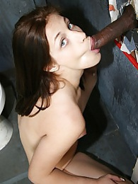 Teen Jessica Right interracial gloryhole blowjob and cumeating pictures at lingerie-mania.com