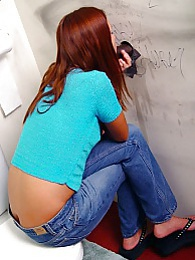Teen Saphire blows black stranger gloryhole eats cum pictures at kilotop.com