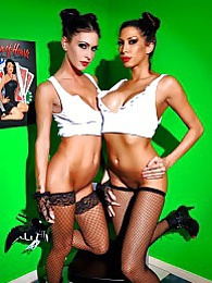 Wine Games Pics - Jessica Jaymes and Kayla Carrera pictures at lingerie-mania.com