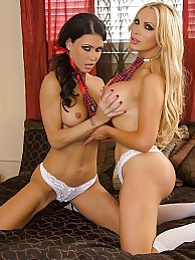 Sister Hood Pics - Jessica Jaymes and Nikki Benz finally fuck pictures at lingerie-mania.com