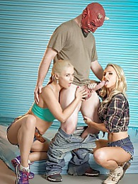 Alix Helps Sarah P - Sara and Alix fucking Lynx returns to Spizoo pictures at lingerie-mania.com