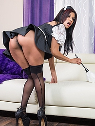 The Great Maid P - Gabby received a big fat load pictures at kilovideos.com