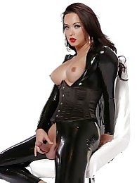 Dirty Bianka in latex bodysuit pictures at freekiloporn.com