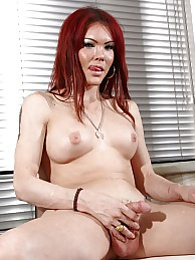 Hot redhead Valeria Wong posing her perfect body pictures at freekilosex.com