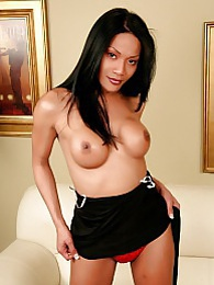 Busty exotical transsexual stripping and posing her cock pictures at sgirls.net