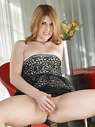 Hot tgirl Amy Daly posing and masturbating pictures