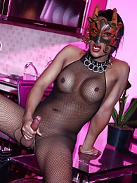 Naughty Amy posing in body stocking pictures at sgirls.net