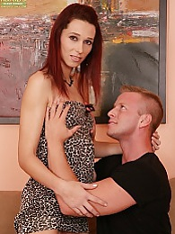 Redhead MILF Rebecca Red gets fucked from behind pictures