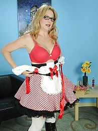 Mature babe Sable Knight plays Little Red Riding Hood pictures at find-best-panties.com