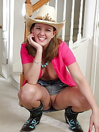 Mature cowgirl Deliliah Stevenson shows off her ass pictures