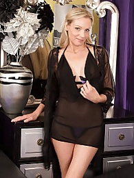 Blond cougar Angel P slips out of her sexy lingerie pictures at kilopills.com
