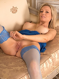 Mature blonde babe Angel P spreads her pussy lips pictures at kilopics.com