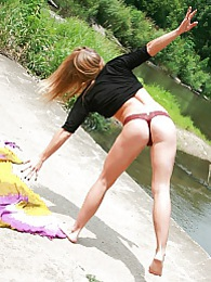 Sunbathing pictures at lingerie-mania.com