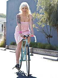 Lynn Dress And Bike pictures at very-sexy.com