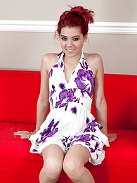 Purple And White Dress pictures at find-best-pussy.com