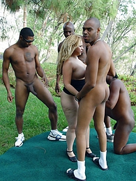 Big tits blonde Holly interracial gangbang anal DP pictures at freekilopics.com