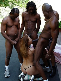 Pornstar Melanie Jagger interracial anal gangbang pictures at sgirls.net