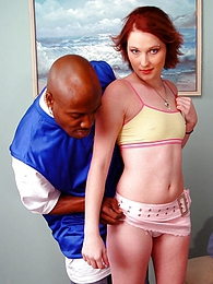 Redhead Ms Desrey interracial cuckold and cumeating pictures at freekiloclips.com