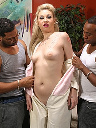 Just 18 Page Morgan interracial threesome fucking and jizz pictures at freekilopics.com