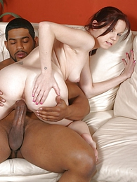 Redhead Phoebe interracial cuckold fuck and cumplay pictures at freekilosex.com