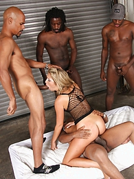Hot blond Jaelyn Fox gets interracial gangbang 6 on 1 pictures at freekilomovies.com