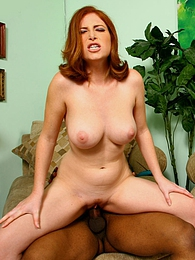 Redhead Ginger Blaze cuckold interracial creampie pictures at lingerie-mania.com