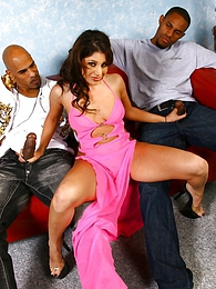 Britney Stevens interracial DP, cumeating pictures at kilosex.com