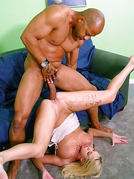 Britney Madison fucks 2 huge black dicks pictures at adspics.com