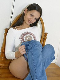 Sweet Eva has a sexy time in her bedroom pictures at find-best-panties.com
