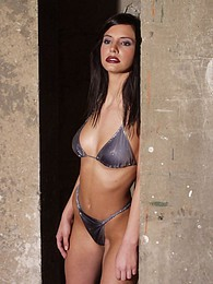 Sexy photos in a dark industrial setting pictures at find-best-panties.com