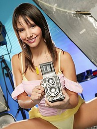 Stunning studio pics of Monika looking really hot pictures at sgirls.net