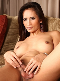 Sweet shemale Angie showing her yummy asshole and juicy dick pictures at kilovideos.com