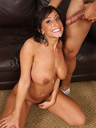 Brunette Ricki White fucks and sucks off Obama lookalike pictures at freekilomovies.com