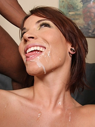 Gorgeous redhead Dana Dearmond fucks and sucks 2 huge black dicks pics
