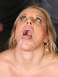 Hot blond Alexis Golden fucks and sucks off 2 huge black dicks pictures at freekiloporn.com
