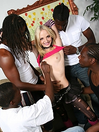 Teen punk slut Faye Runaway does interracial gangbang 5-on-1 pictures at freelingerie.us