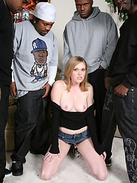 The apple of daddy's eye Sindee Shay gets fucked by a group of black guys pictures at freekilosex.com
