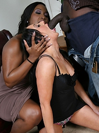 Submissive white girl Brooklyn Jade gets tossed around by a black couple pictures