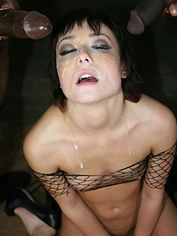 A bikini-clad cock hungry slut Zoe Voss gets an interracial fucking she'll never forget pictures at freekiloporn.com